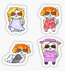 lady meow meow Sticker