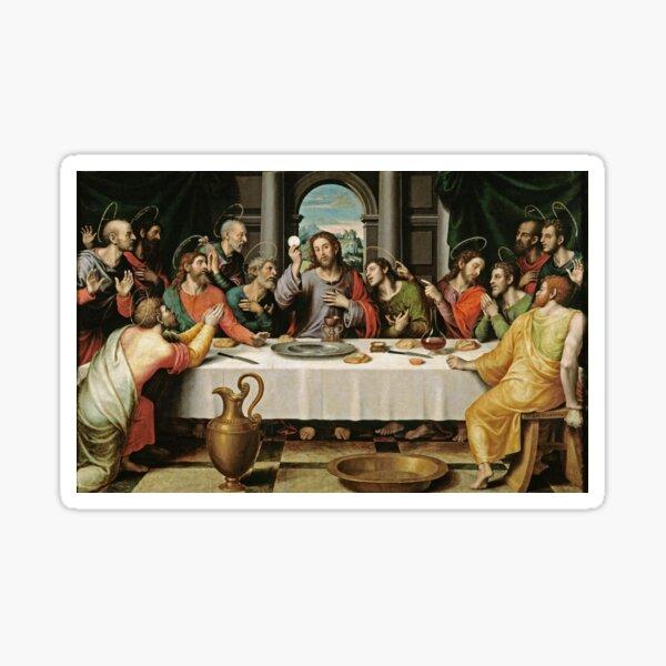 The Last Supper (Ultima Cena) by Joan de Joanes (c. 1562) Sticker