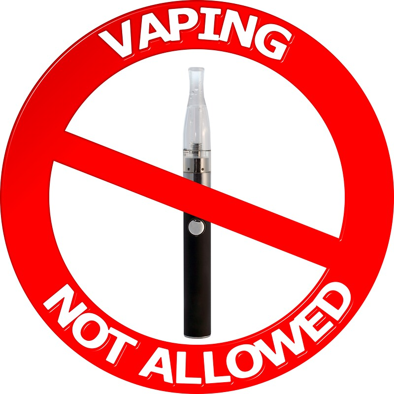 """Vaping Not Allowed Sign"" Stickers by MarkUK97 