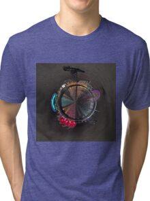 Planet Glasgow at Night Tri-blend T-Shirt