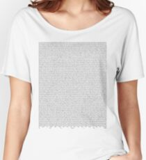 SILENT ALARM (black text) Women's Relaxed Fit T-Shirt