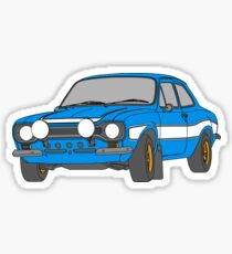 1970 Ford Escort RS2000 Fast and Furious Paul Walker's car Black Outline Colour fill. Sticker