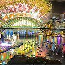 Sydney NYE Fireworks 2015 # 14 by Philip Johnson