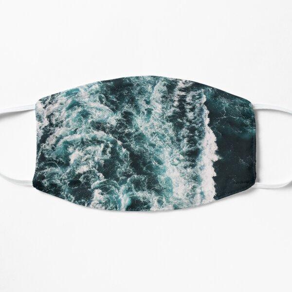 the powerful splashing rush of the sea Flat Mask