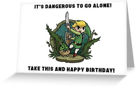 Zelda Birthday Card Greeting Cards By Samuelh7 Redbubble