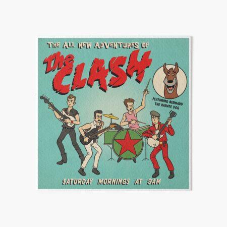 Cartoon Clash Art Board Print