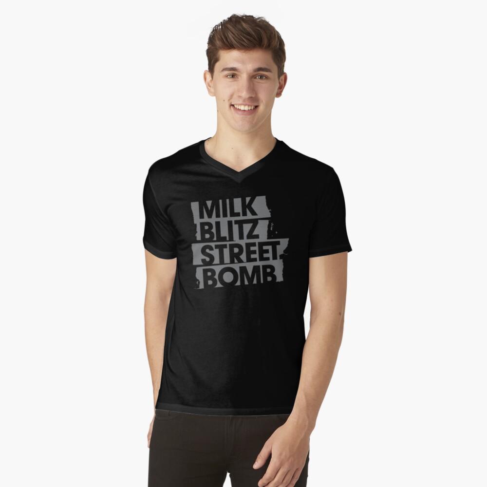Milk.Blitz.Street.Bomb. Logo V-Neck T-Shirt