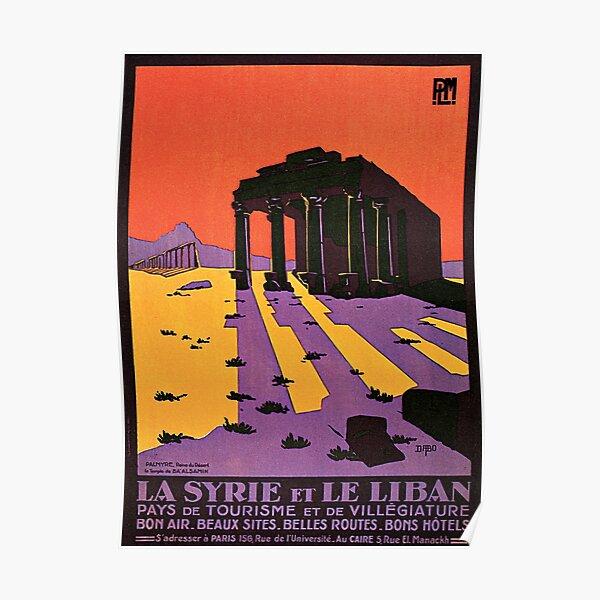 SYRIE et LIBAN Palmyre Le Temple De Ba 'Alsamin Publicité Tourisme Vintage Poster