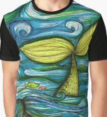Camouflaged Mermiad Graphic T-Shirt