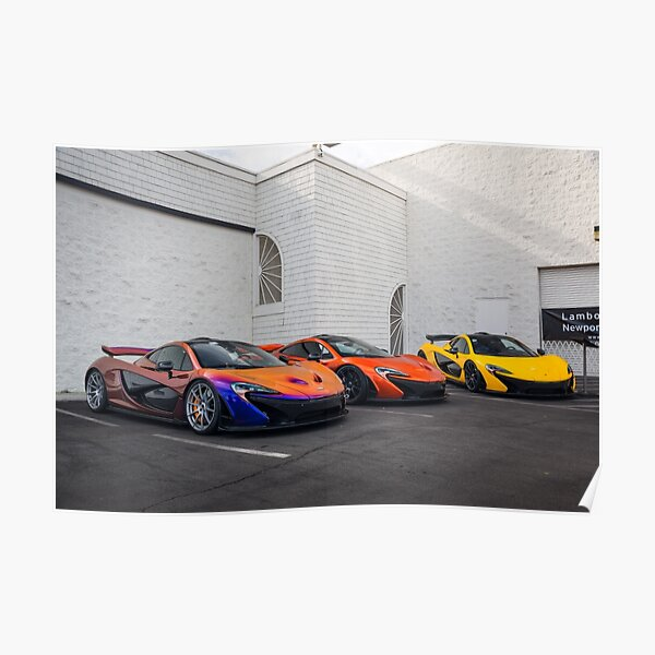 McLaren P1 Trio Poster
