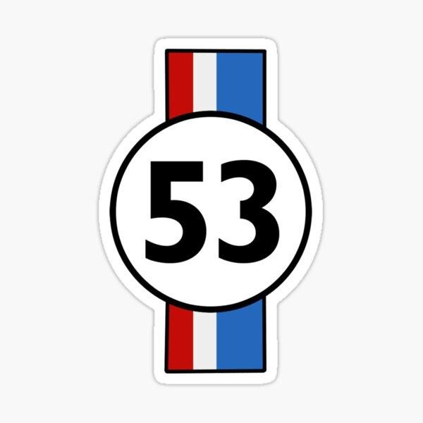 53 HERBIE CAR DESIGN Sticker