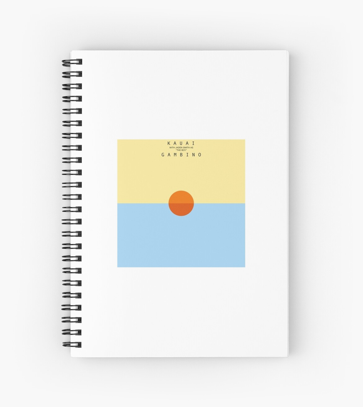 Stn Mtn Kauai Album Cover Spiral Notebook By Benparker Redbubble