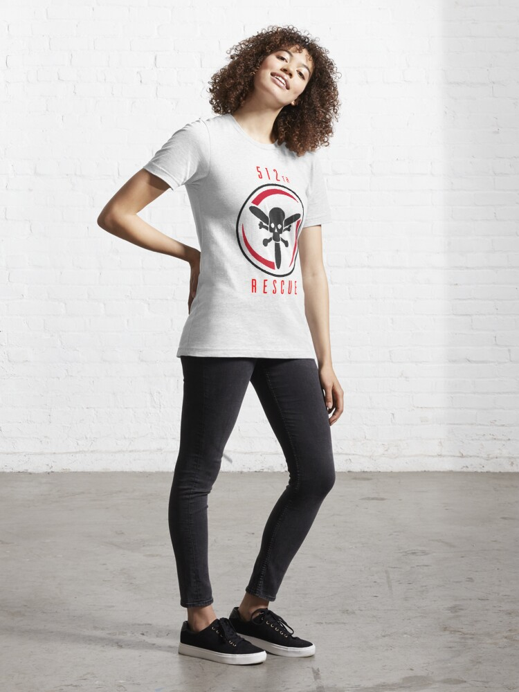Alternate view of Model 40 - 512th Rescue Essential T-Shirt