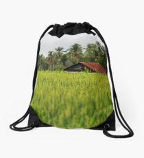 The Rice Fields Drawstring Bag