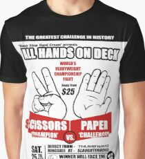 Rock Paper Scissors Graphic T-Shirt