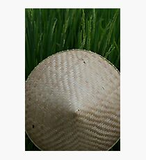 Rice Hat Photographic Print