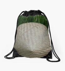 Rice Hat Drawstring Bag