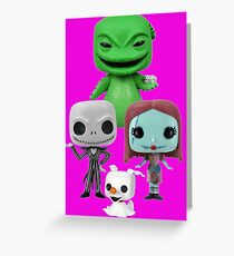 The Nightmare Before Chirstmas Greeting Card