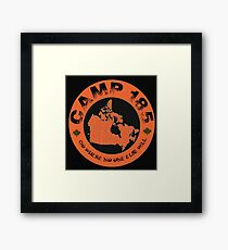 Camp 185 Canada Map Tee Framed Print