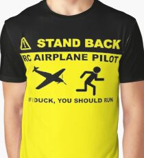 RC Airplane Pilot - Stand Back Graphic T-Shirt