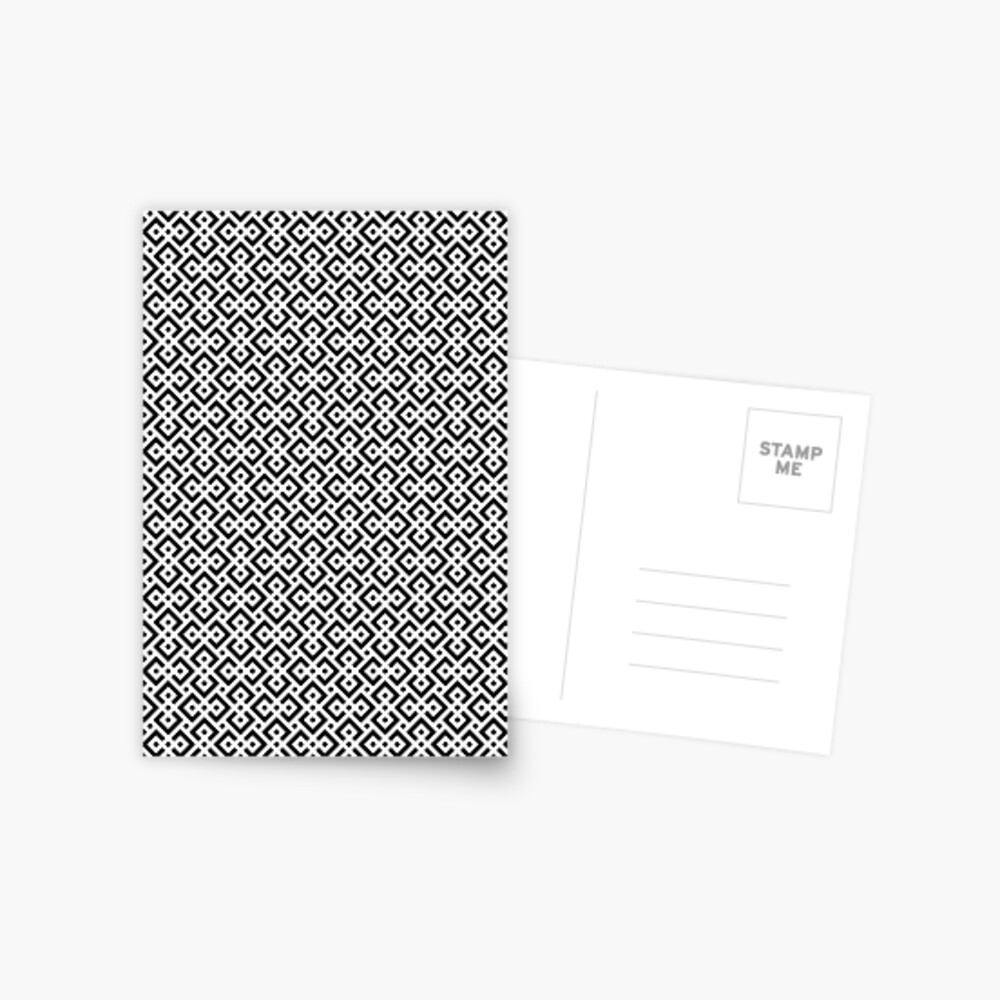 Trendy abstract Postcard