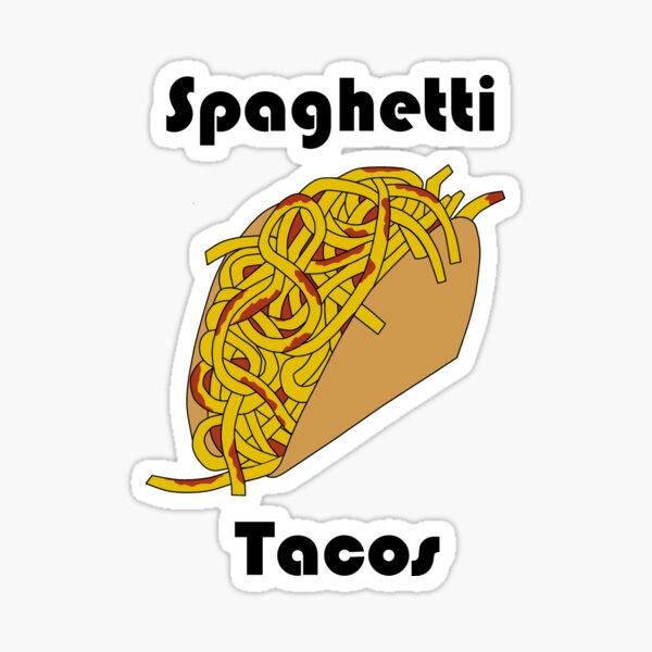 Spaghetti Taco Sticker