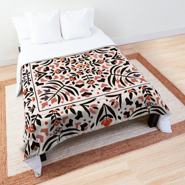 Floral Oriental Vintage Style Illustration Comforter