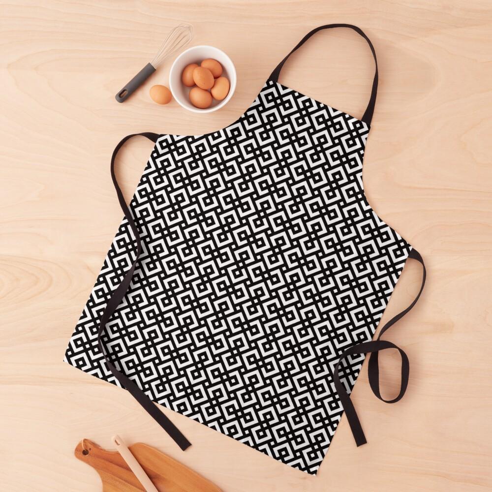 abstract black & white Apron
