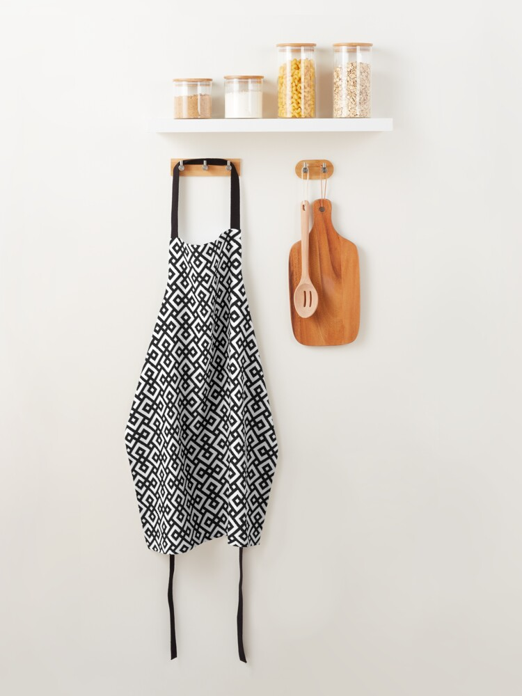 Alternate view of abstract black & white Apron