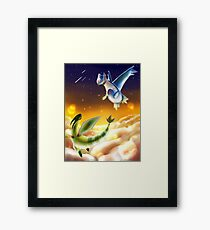 Flygon and Latios Framed Print