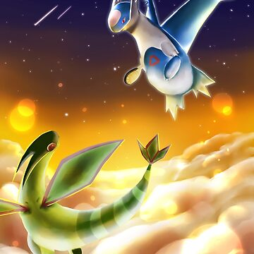 Flygon and Latios by WolfLoft