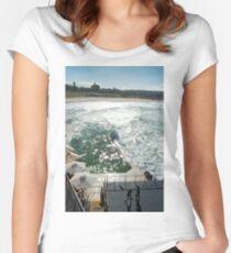 Bondi Beach icebergs Boxercise  Women's Fitted Scoop T-Shirt