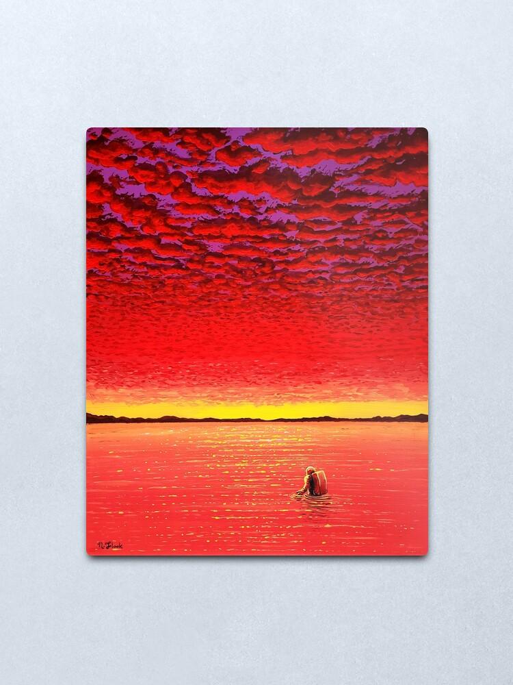 Alternate view of Sundown Metal Print