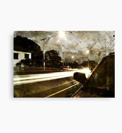 Melville Road At Night Canvas Print