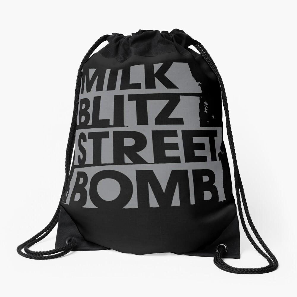 Milk.Blitz.Street.Bomb. Logo Drawstring Bag