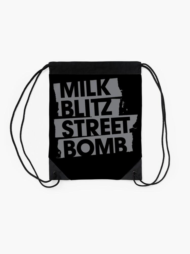 Alternate view of Milk.Blitz.Street.Bomb. Logo Drawstring Bag