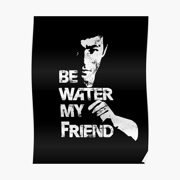 Bruce Lee Water Poster