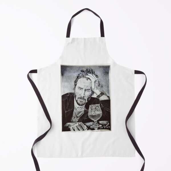 Unique Keanu Reeves Handmade Sketch Design for T-shirt, Hoodie, Tops Clothing Apron