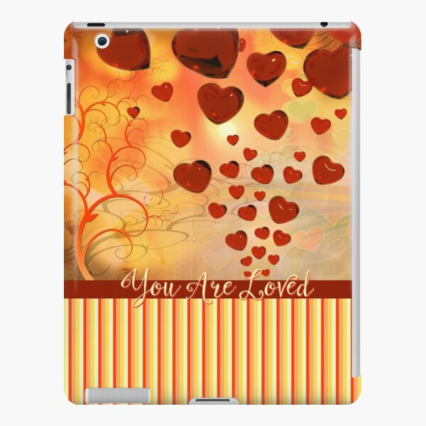 You Are Loved Glossy Candy Red Orange Hearts iPad Snap Case