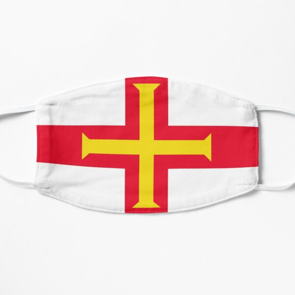 Guernsey Flag. Jurisdiction of the Bailiwick of Guernsey Flag Patriotic Gifts. Mask