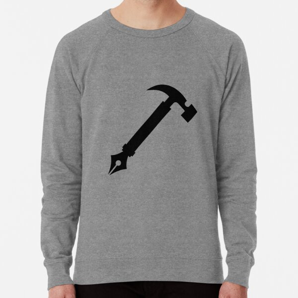 Metaworker Logo in Black Lightweight Sweatshirt