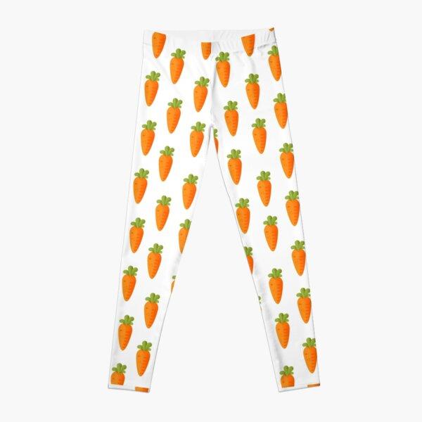 Cute Carrot  Vegetable  Leggings