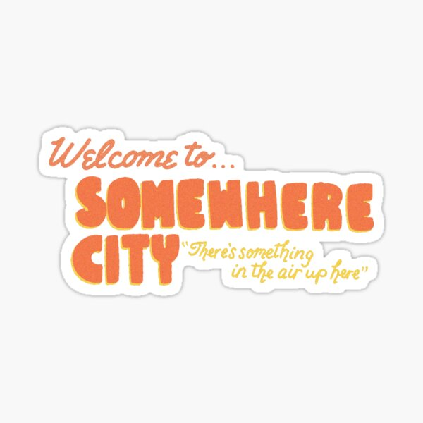 Origami Angel Welcome to Somewhere City Sticker