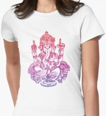 Ombre Indian Ganesh Elephant T-shirt Fitted T-Shirt