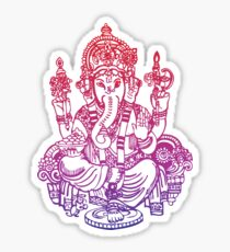 Ombre Indian Ganesh Elephant T-shirt Sticker