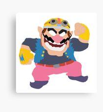 Simplistic Wario Super Smash Bros  Canvas Print