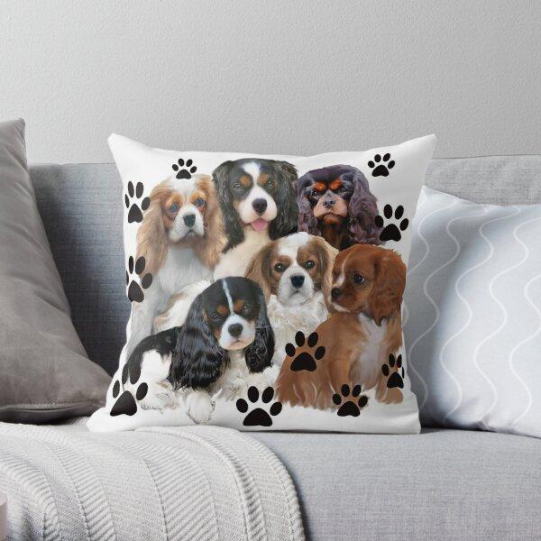 Cavalier Spaniels Grouping Throw Pillow