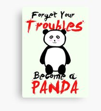 Motivational Panda Canvas Print