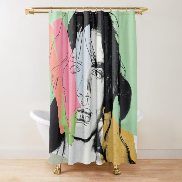 Andy Warhol Mick Jagger Rideau de douche