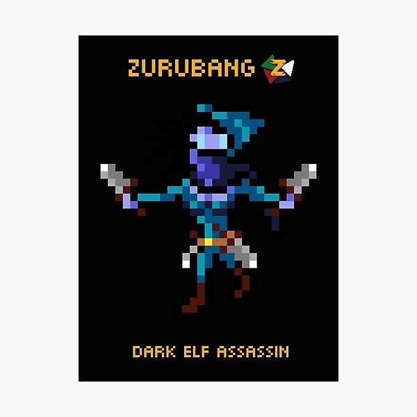 Dark Elf Assassin - Zurubang Photographic Print